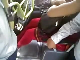 DESI BUS BOOBS TOUCH VOYEUR